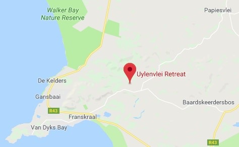Google map to Uylenvlei Retreat
